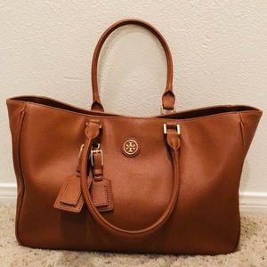 Tory Burch Safiano leather tote bag